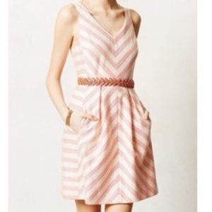 "✤ Pink Striped ""HD in Paris"" Anthropologie Dress ✤"